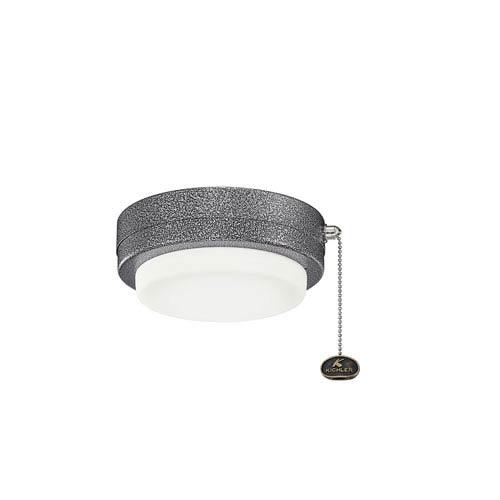 Weathered Steel Powder Coat LED Fan Light Kit