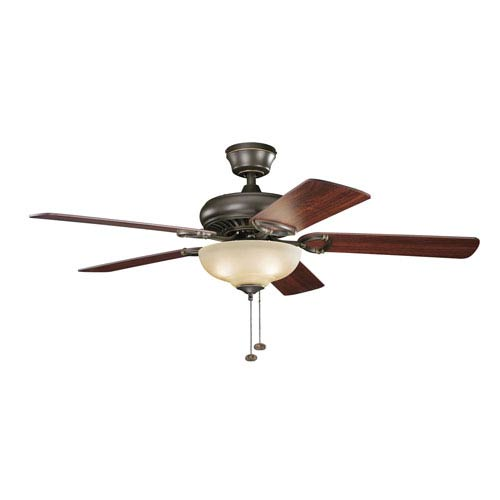 Kichler Sutter Place Select Olde Bronze 52-Inch Three Light Ceiling Fan