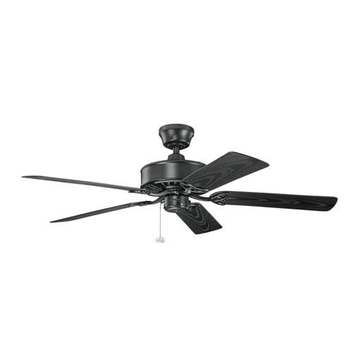 Renew Patio Satin Black Indoor and Outdoor Ceiling Fan