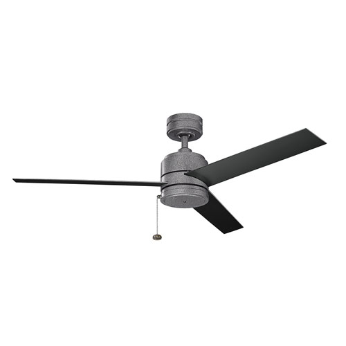 Arkwet Patio Weathered Steel Powder Coat Outdoor Ceiling Fan
