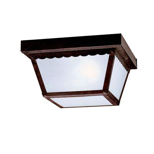 Tannery Bronze Two-Light Outdoor Flush Mount