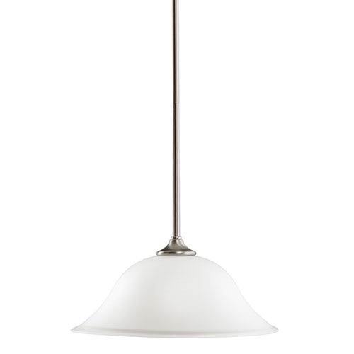 Kichler Wedgeport Brushed Nickel 14-Inch One-Light Energy Star Pendant