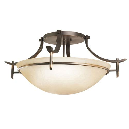 Olympia Olde Bronze Semi-Flush Ceiling Light