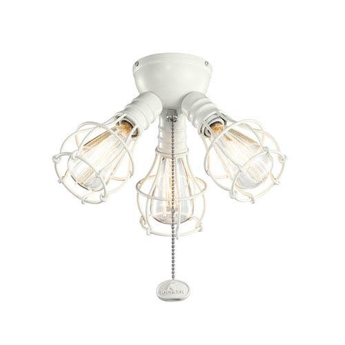 Satin Natural White Industrial 3-Light Kit