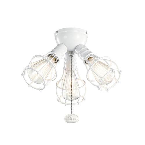 Kichler White Industrial 3-Light Kit