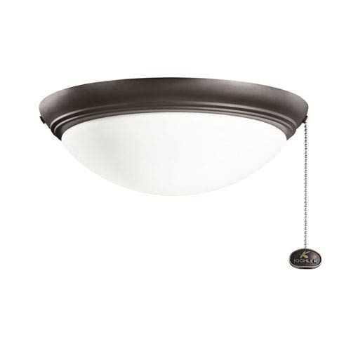 Kichler Satin Natural Bronze Indoor and Outdoor Low Profile Large 4.25-Inch Two Light Fan Kit