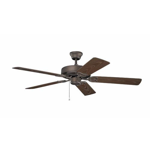 Basics 52-Inch Satin Natural Bronze Patio Ceiling Fan