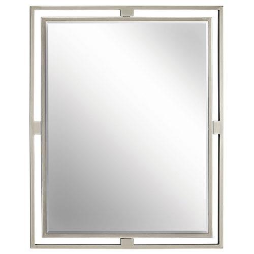 36 x 42 mirror frameless hendrik brushed nickel mirror wall mirrors free shipping bellacor