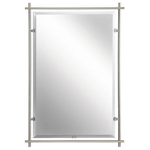 kichler eileen brushed nickel mirror 41096ni bellacor