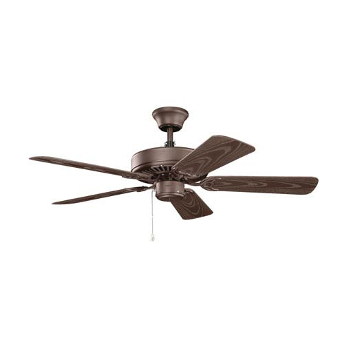 Basics 42-Inch Satin Natural Bronze Patio Ceiling Fan