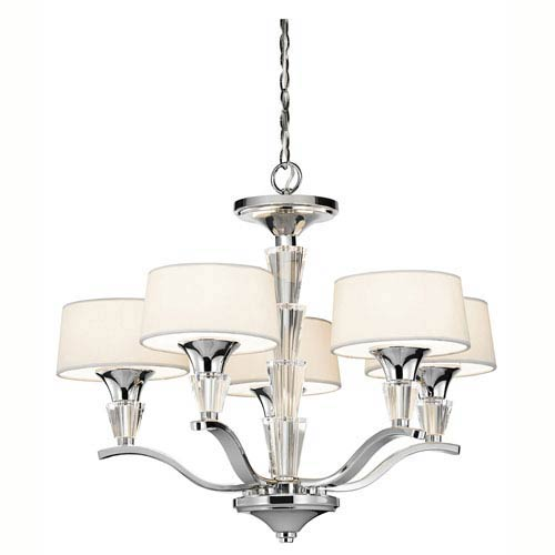 Crystal Persuasion Chrome Five-Light Mini Chandelier