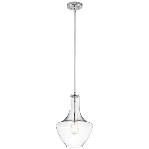 Kichler Everly Chrome 10.5-Inch One Light Pendant