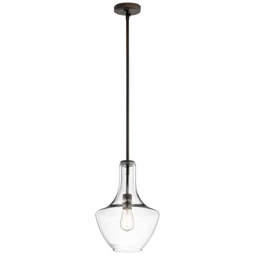 Everly Olde Bronze 15.75-Inch One Light Pendant