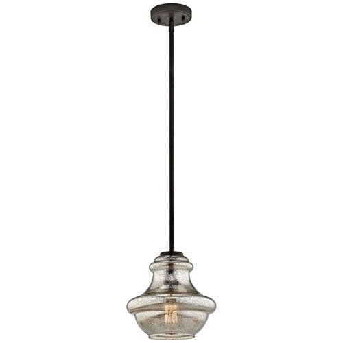 Everly Olde Bronze 9.5-Inch One Light Mini Pendant