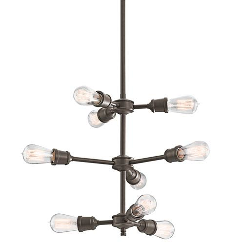 Kichler Lucien Olde Bronze Nine-Light Chandelier