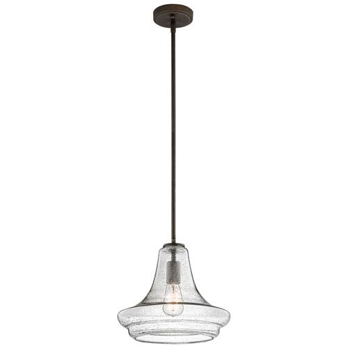 Kichler Everly Olde Bronze 12.5-Inch One Light Pendant