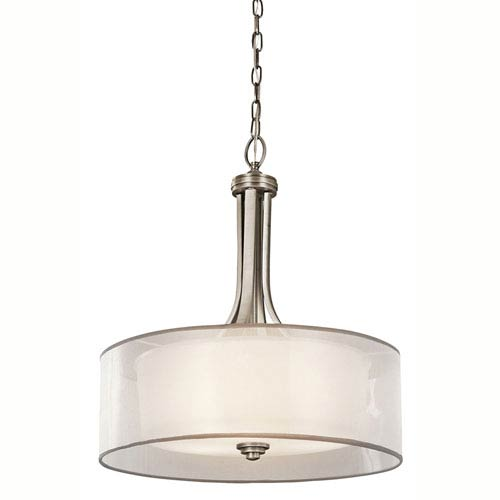 Lacey Antique Pewter Four-Light Inverted Pendant