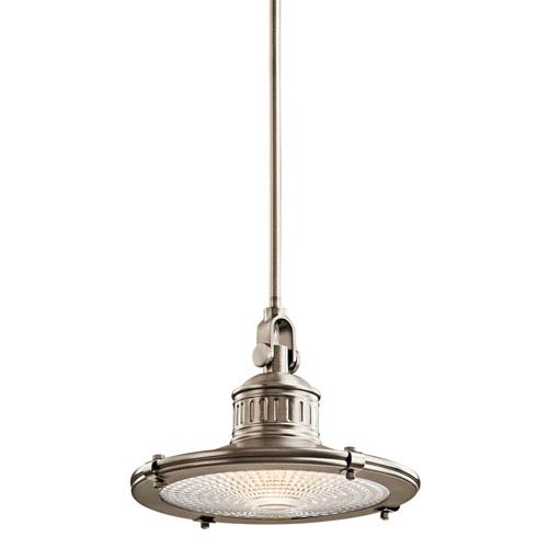 Sayre Antique Pewter One-Light 12-Inch Pendant