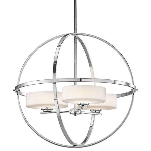 Olsay Chrome Three-Light Chandelier