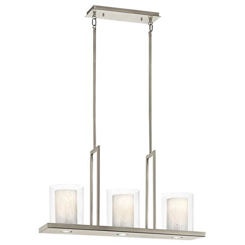 Kichler Triad Classic Pewter Three-Light Pendant - Width 7.75 Inches