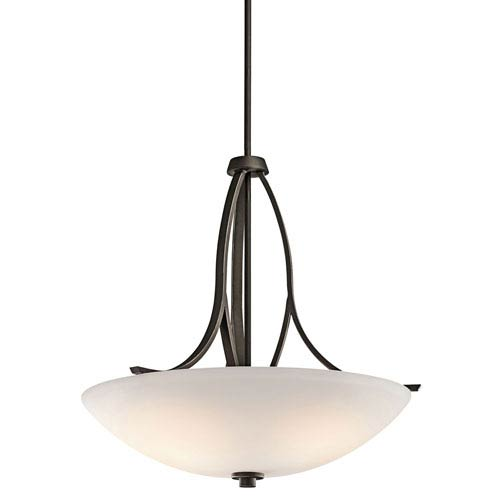 Kichler Granby Olde Bronze Three-Light Inverted Pendant