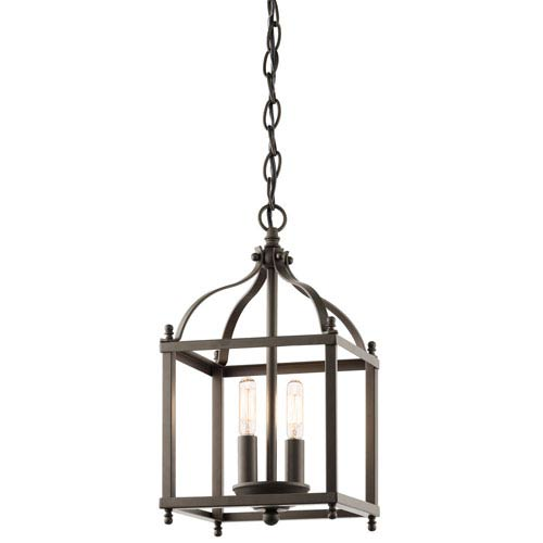 Kichler Larkin Olde Bronze Two Light Foyer Pendant