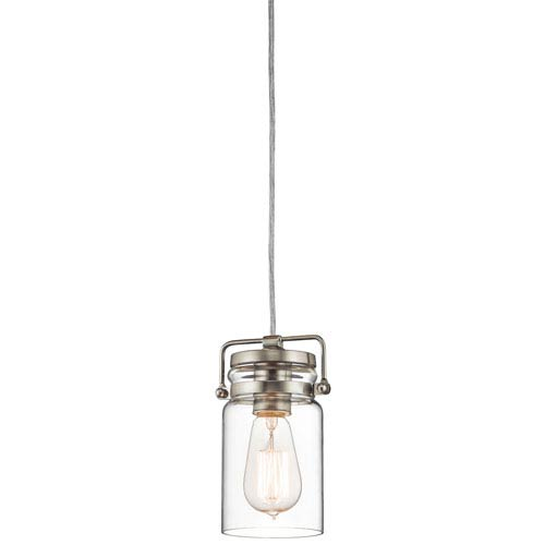 Brinley Brushed Nickel One Light Mini Pendant