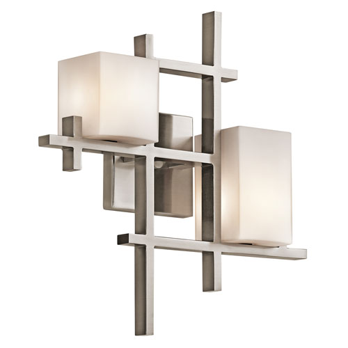City Lights Classic Pewter Two-Light Wall Sconce