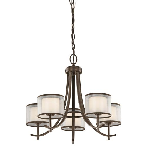 Tallie Mission Bronze Five-Light Chandelier