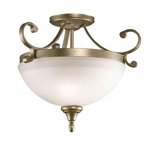 Monroe Sterling Gold Two-Light Semi Flush
