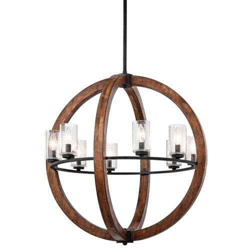 Kichler Grand Bank Eight-Light Auburn Stained Finish Pendant