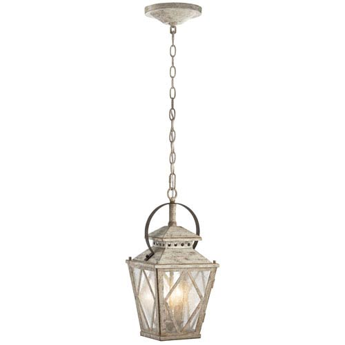 Kichler Hayman Bay Two-Light Distressed Antique White Interior Lantern Pendant