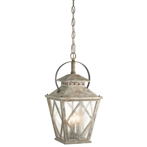 Kichler Hayman Bay Distressed Antique White Four Light Pendant