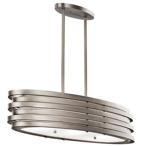 Kichler Roswell Brushed Nickel 12.25-Inch Three Light Pendant