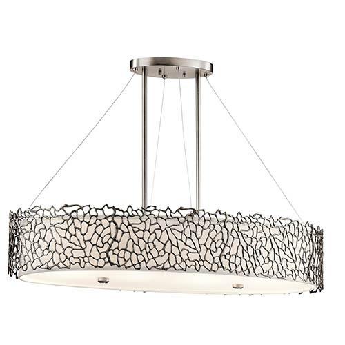 Oval pendant light fixture bellacor kichler silver coral classic pewter four light oval chandelier convertible pendant aloadofball Images