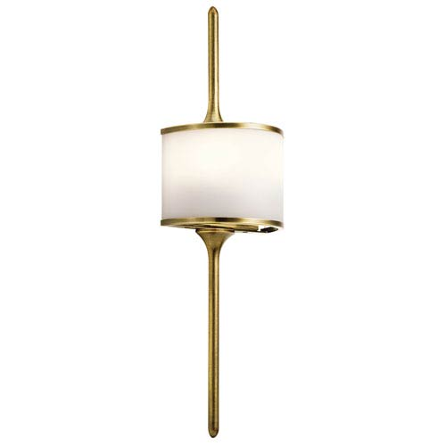 Mona Natural Brass 6.5-Inch Two-Light Wall Sconce