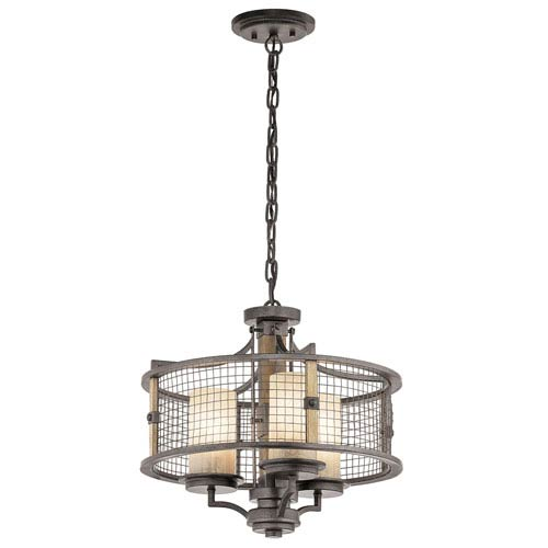 Ahrendale Anvil Iron Three-Light Convertible Chandelier