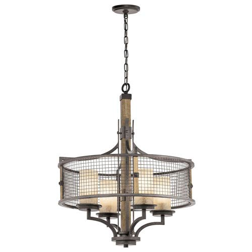Ahrendale Anvil Iron Four-Light Chandelier