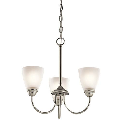 Kichler Jolie Brushed Nickel Three-Light Mini Chandelier