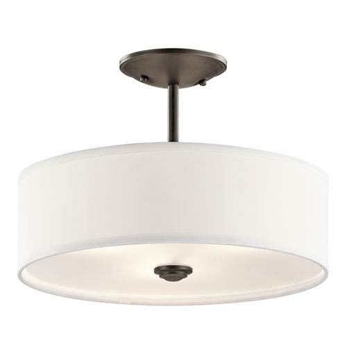 Kichler Shailene Olde Bronze One-Light Semi Flush