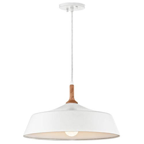 Danika White One-Light Pendant