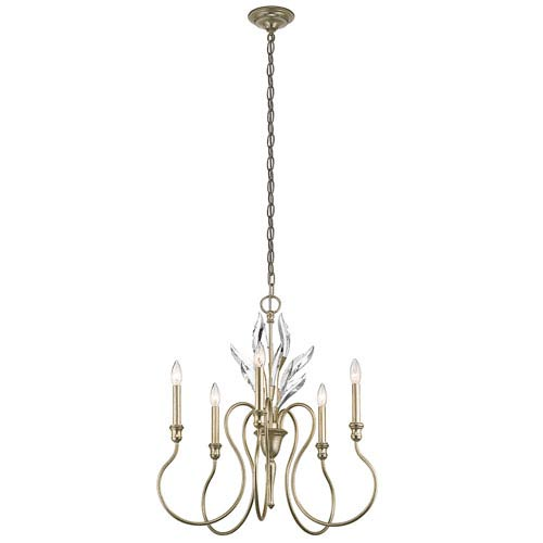 Grace Sterling Gold Five-Light Chandelier