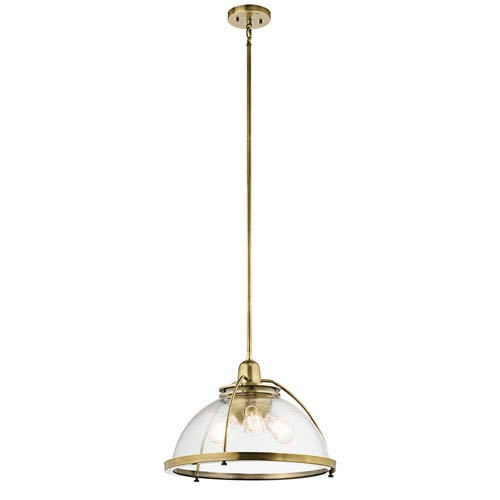 Kichler Silberne Natural Brass Three-Light Pendant