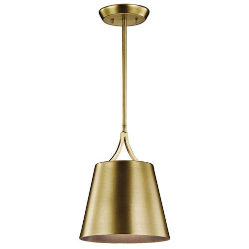 Maclain Natural Brass One-Light Pendant
