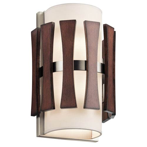 Cirus Auburn Stained Finish Two-Light Wall Sconce