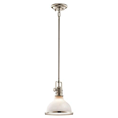 Hatteras Bay Polished Nickel One-Light Pendant