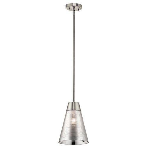 Rowland Brushed Nickel One-Light Mini Pendant