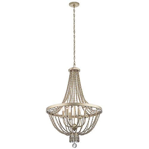 Birkdale Sterling Gold Six-Light Pendant