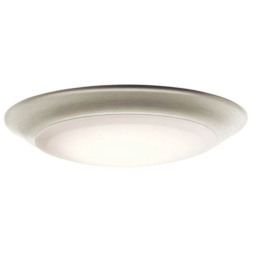 Brushed Nickel Warm White LED One-Light Flushmount