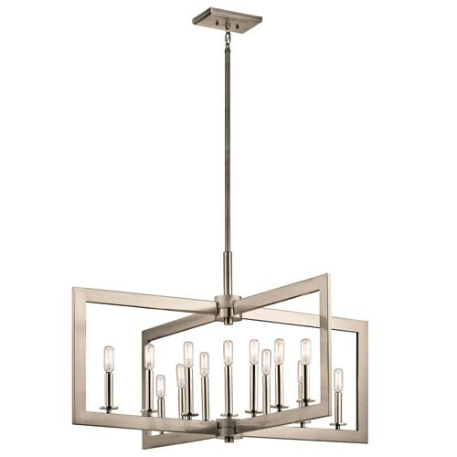 Cullen Classic Pewter 13-Light Pendant